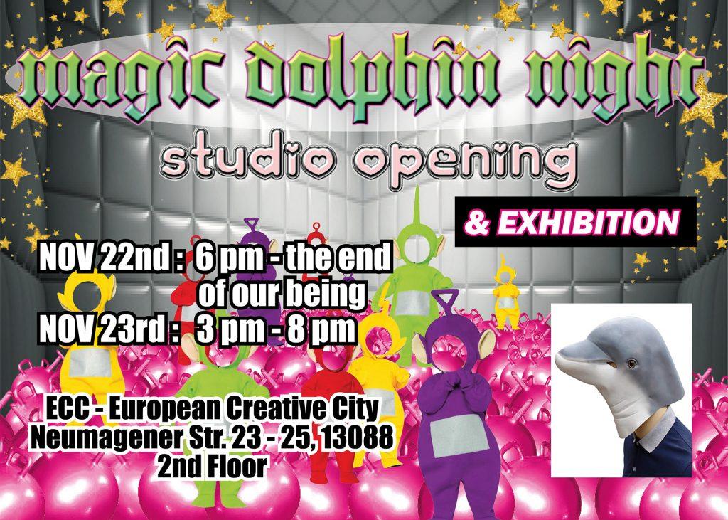 Kennet Lekko Studio Opening Magic Dolphin Night
