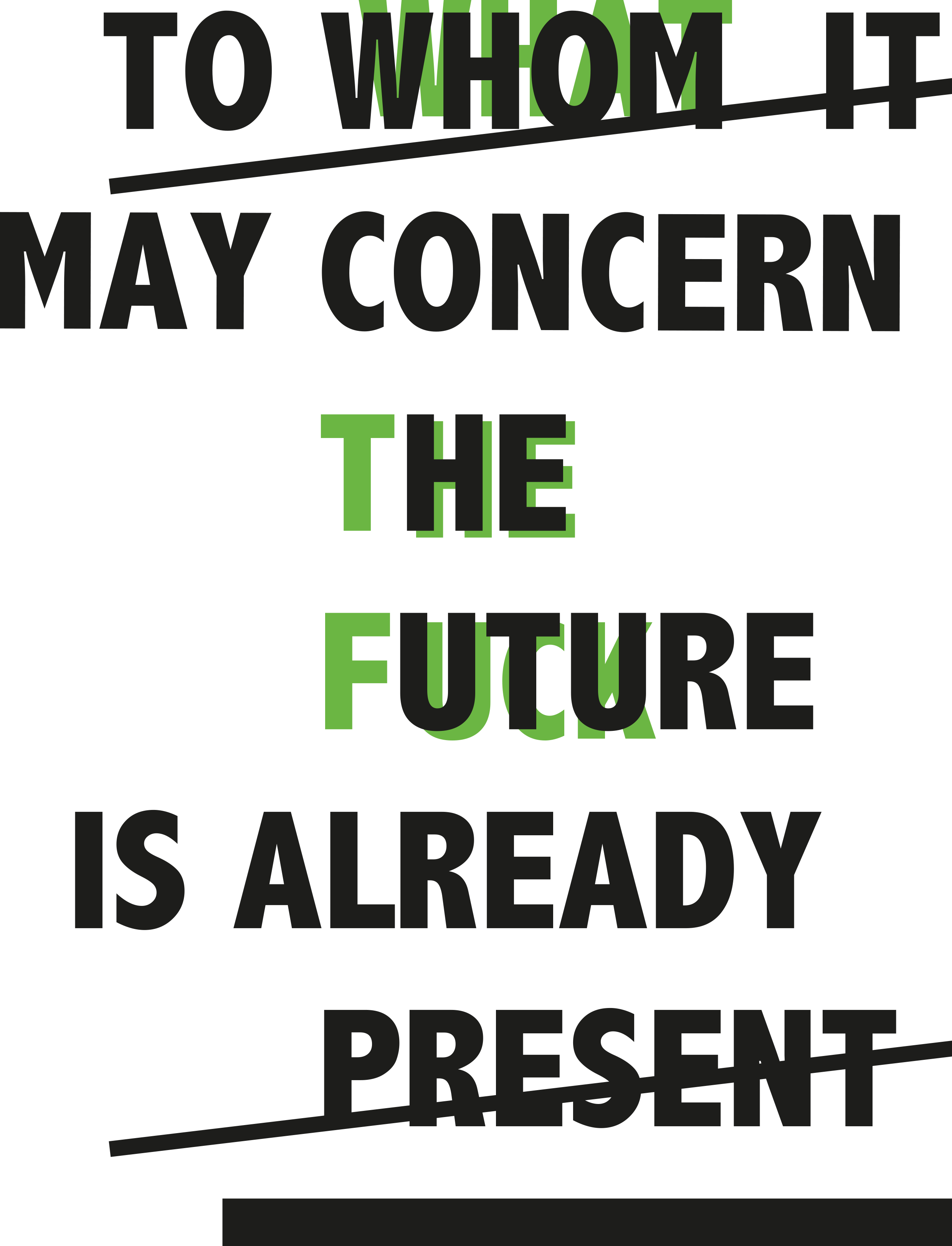 TO WHOM IT MAY CONCERN THE FUTURE IS ALREADY PRESENT